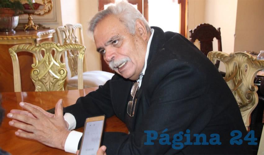 Luis Medina Lizalde, exdiputado local (Foto Archivo Página 24)