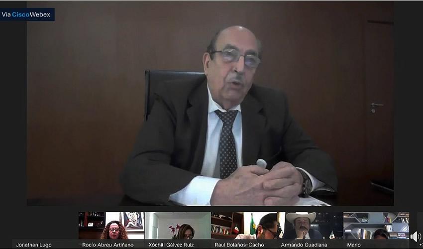 Alfonso Morcos Flores, director general del Centro Nacional de Control de Energía (Cenace), en la reunión con senadores (Foto: Cortesía/Facebook: Comisión de Energía Senado de la República)