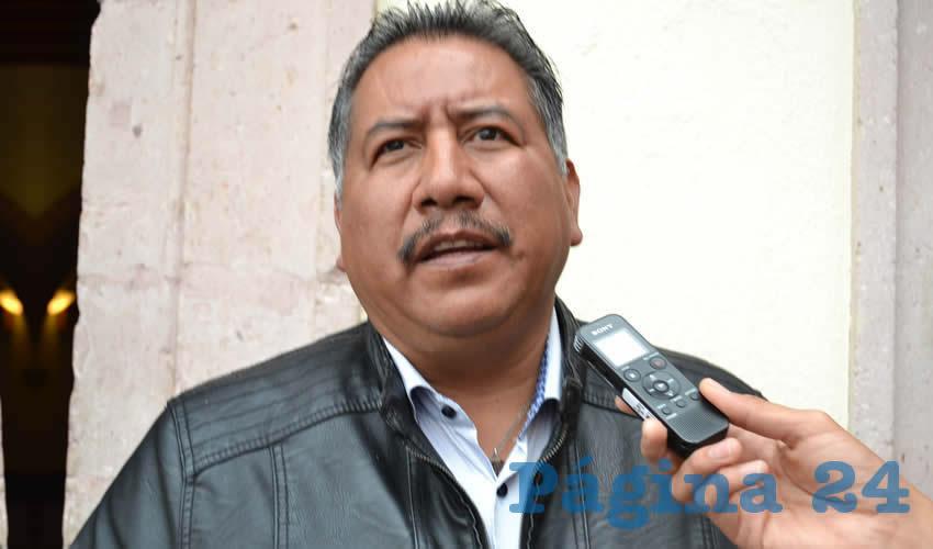 Felipe Pinedo Hernández, integrante del Frente Popular de Lucha de Zacatecas (FPLZ) (Foto Archivo Página 24)
