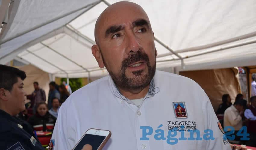 Jorge Eduardo Muñoz Franco, director de la corporación de Seguridad Pública Municipal de Zacatecas (Foto Archivo Página 24)