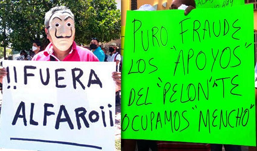 """Enrique Alfaro, el gobernador más impopular en muchos años ...""""PURO FRAUDE LOS APOYOS DEL PELÓN, TE OCUPAMOS MENCHO""""..."""
