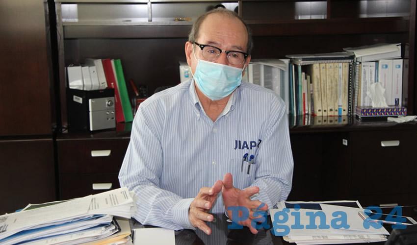 Benjamín de León Mojarro, director del Junta Intermunicipal de Agua Potable y Alcantarillado de Zacatecas (Jiapaz)