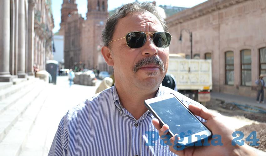 Alejandro Rivera Nieto, líder del Sindicato Independiente de Trabajadores del Estado de Zacatecas (SITEZ)
