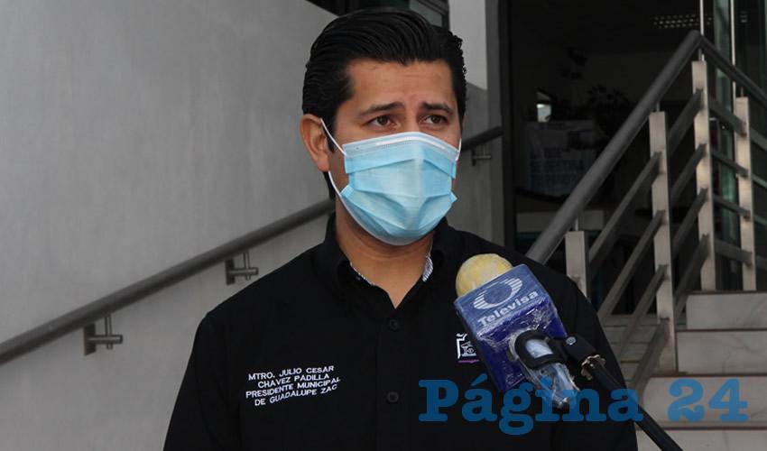 Julio César Chávez Padilla, alcalde del municipio de Guadalupe