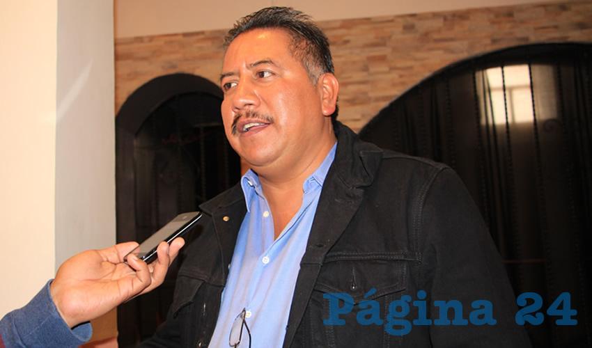 Felipe Pinedo Hernández, miembro del Frente Popular de Lucha por Zacatecas (FPLZ) (Foto: Rocío Castro Alvarado)