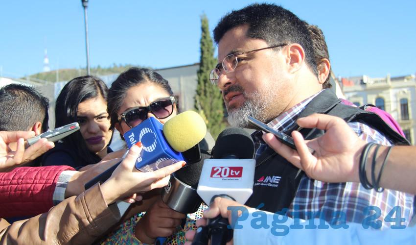Matías Chiquito Díaz de León vocal ejecutivo del Instituto Nacional Electoral (INE) en el estado de Zacatecas (Foto: Archivo Página 24)