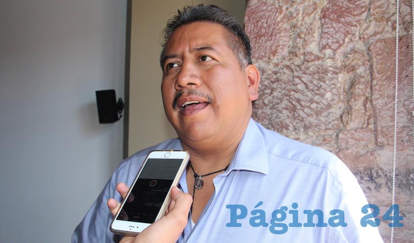 Felipe Pinedo Hernández, líder del Frente Popular de Lucha por Zacatecas (FPLZ) (Foto Archivo Página 24)