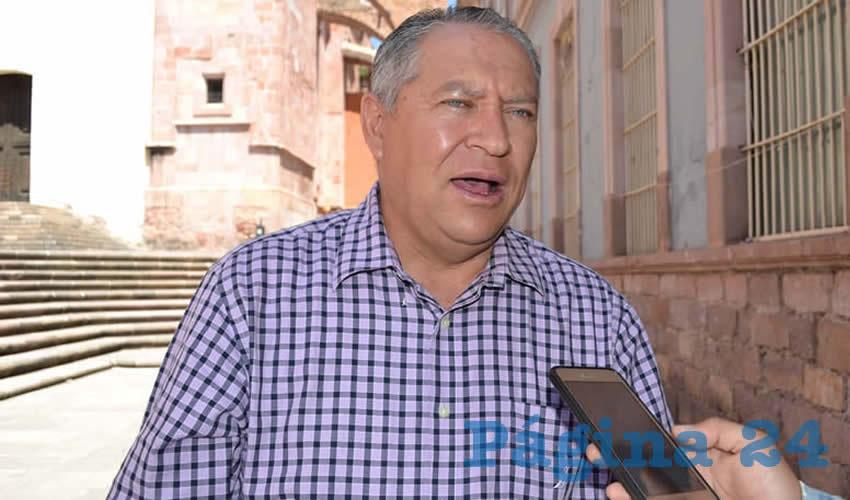 Javier Calzada Vázquez, diputado local, declaró que es evidente una mala fe y un abuso de la autoridad (Foto Archivo Página 24)
