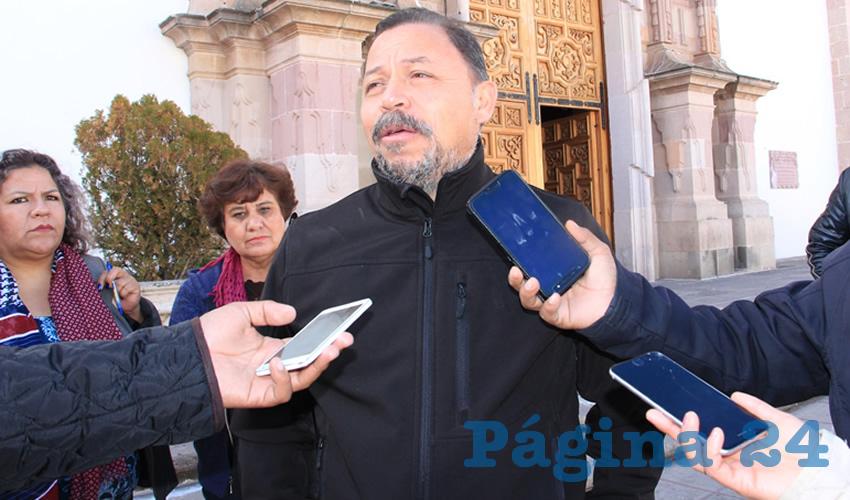 Alejandro Rivera Nieto, secretario general del Sindicato Independiente de Trabajadores del Estado de Zacatecas (SITEZ) (Foto Archivo Página 24)
