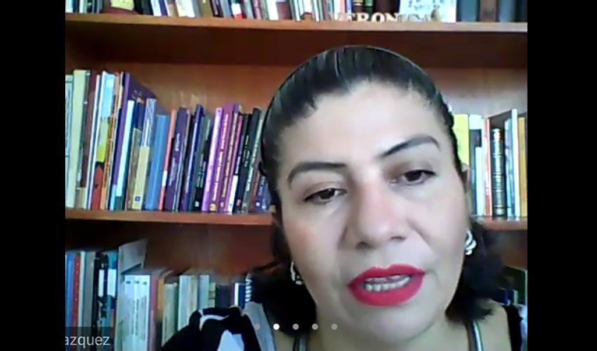 Verónica Aguilar Vázquez, académica de la Benemérita Universidad Autónoma de Zacatecas (BUAZ) (Foto Rocío Castro Alvarado)