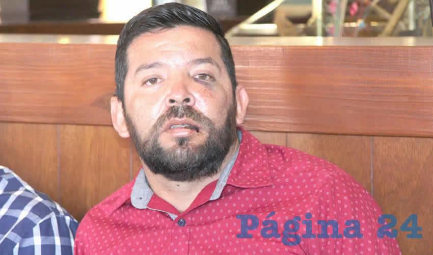Baudelio Cruz Reyes secretario general, del Sindicato Nacional Mineros Independientes