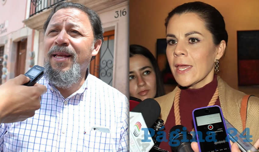 Alejandro Rivera Nieto, secretario del SITEZ | Cristina Rodríguez Pacheco presidenta del Sedif (Fotos: Archivo Página 24)