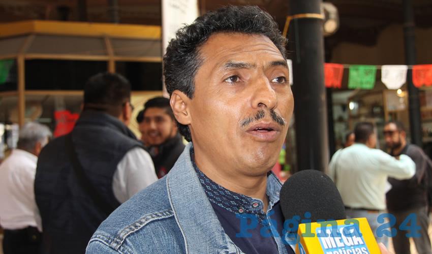 Marcelino Rodarte Hernández, líder local del magisterio disidente (Foto: Archivo Página 24)