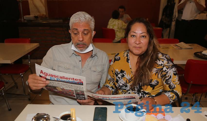 En el restaurante Mitla compartieron el pan y la sal Humberto Pedroza Fabila y Norma Martínez Guerra
