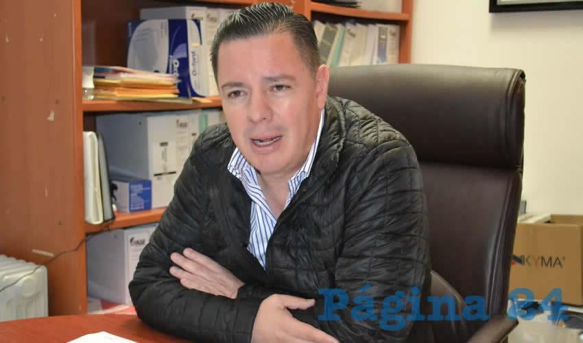 Antonio Caldera Alaniz, coordinador de la Dirección Estatal de Protección Civil (Foto: Archivo Página 24)