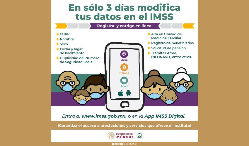 Los Asegurados Pueden Corregir Datos  Personales de su Registro Ante el IMSS