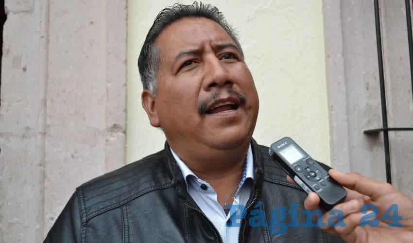 Felipe Pinedo Hernández, miembro del Frente Popular de Lucha por Zacatecas (Foto: Archivo Página 24)