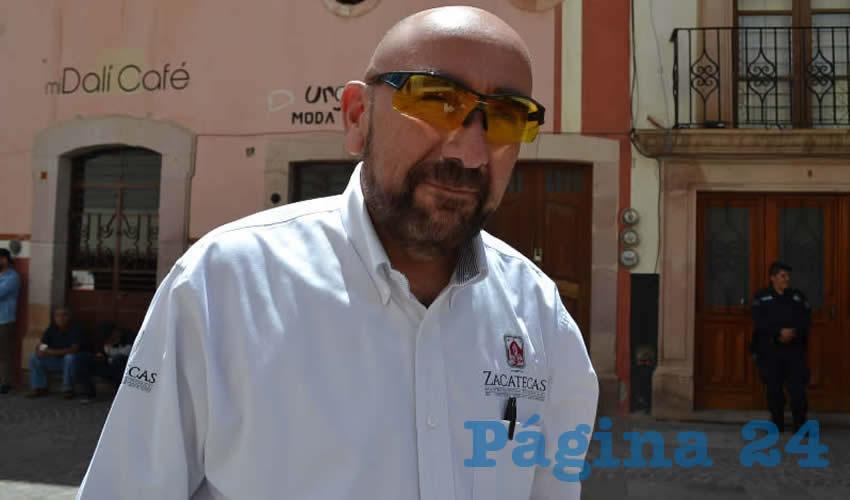 Jorge Eduardo Muñoz Franco, director de Seguridad Pública Municipal de la capital (Foto: Archivo Página 24)
