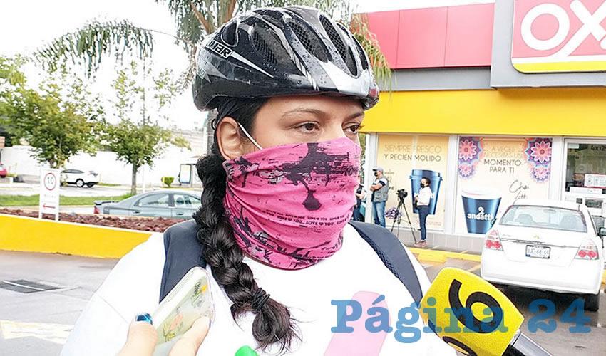 """""""Entendemos que después de tantos años de una Guadalajara que es completamente automotora, no les gusta perder privilegios"""", dijo Vania Contreras, representante del movimiento"""