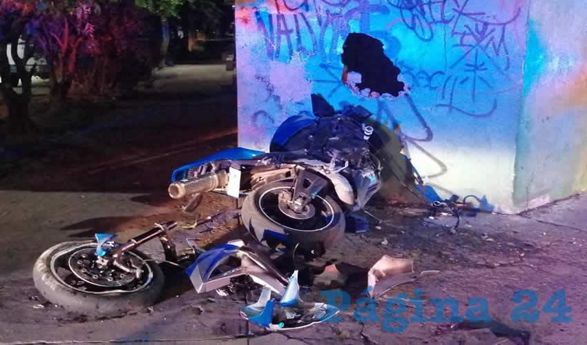 Brutal Choque de un Motociclista