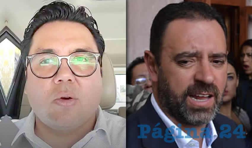 Omar Carrera Pérez, diputado local por Morena | Alejandro Tello Cristerna, Gobernador de Zacatecas