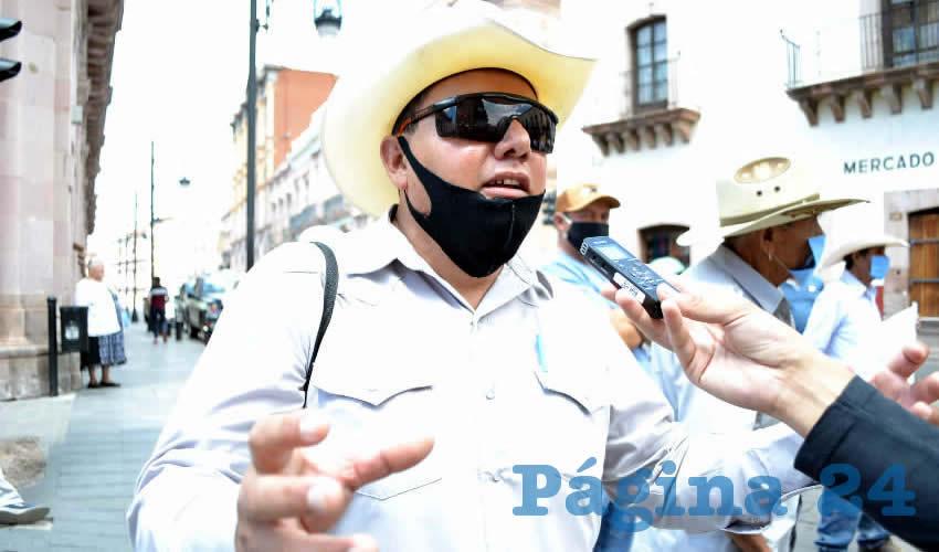 Fernando Galván Martínez, líder frijolero de la zona norte del estado de Zacatecas e integrante de Movimiento Regeneración Nacional (Morena) (Foto: Archivo Página 24)