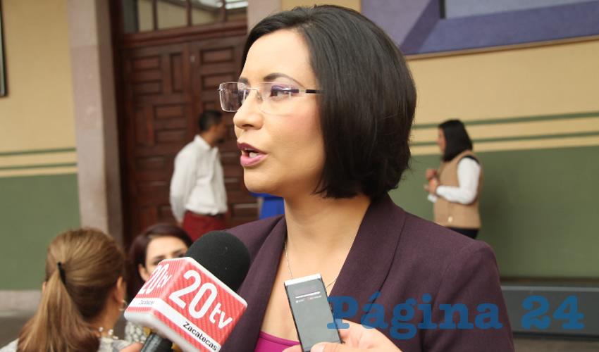 María de la Luz Domínguez Campos, presidenta de la Comisión de Derechos Humanos del Estado de Zacatecas (CDHEZ) (Foto Archivo Página 24)