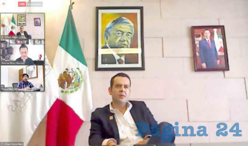 Se llevó a cabo la Segunda Asamblea General Ordinaria 2020 de la Asociación Nacional de Ciudades Mexicanas del Patrimonio Mundial, en la que Ulises Mejía Haro, Presidente Municipal de Zacatecas participó en la reunión efectuada en modalidad virtual, respetando los debidos protocolos de sanidad y distancia derivados de la contingencia por COVID-19.