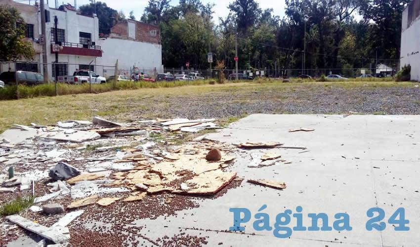 Persiste falta de servicios en zona del Parque Morelos