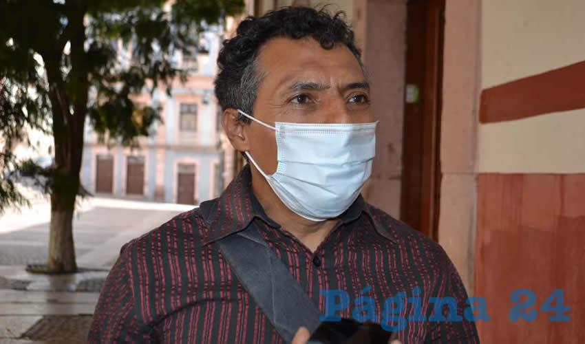 Marcelino Rodarte Hernández, miembro del Movimiento Democrático Magisterial de Zacatecas (MDMZ) y activista social (Foto: Merari Martínez)