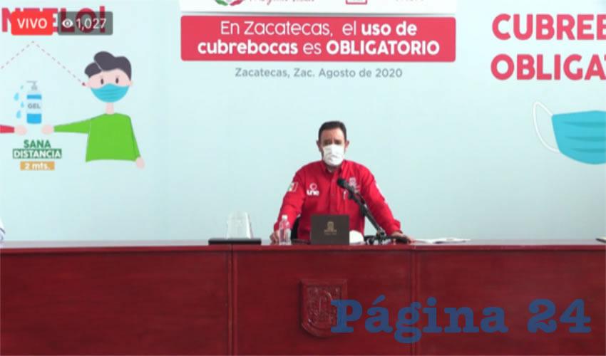 Alejandro Tello Cristerna, en conferencia de prensa virtual (Foto: Cortesía)