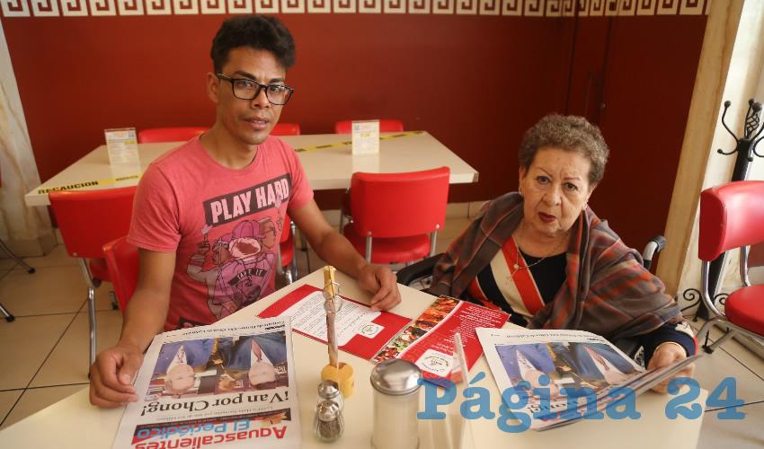 En el restaurante Mitla almorzaron Gustavo Becerra Ramírez y Olga Tovar Palos