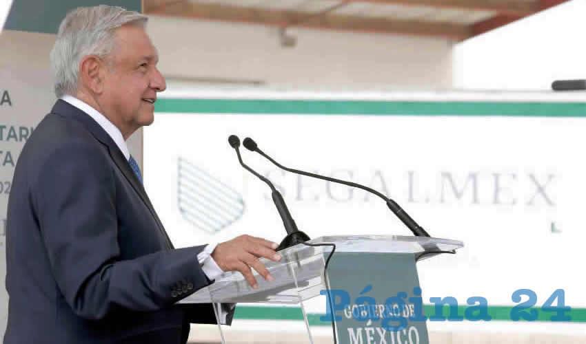 En las instalaciones de Seguridad Alimentaria Mexicana (Segalmex) Andrés Manuel López Obrador, presidente de México, señaló que se cumplió con Zacatecas al tener las instalaciones de la institución en la entidad, además detalló los recursos económicos y programas que se han implementado en la entidad (Crédito: Presidencia/ Página 24)