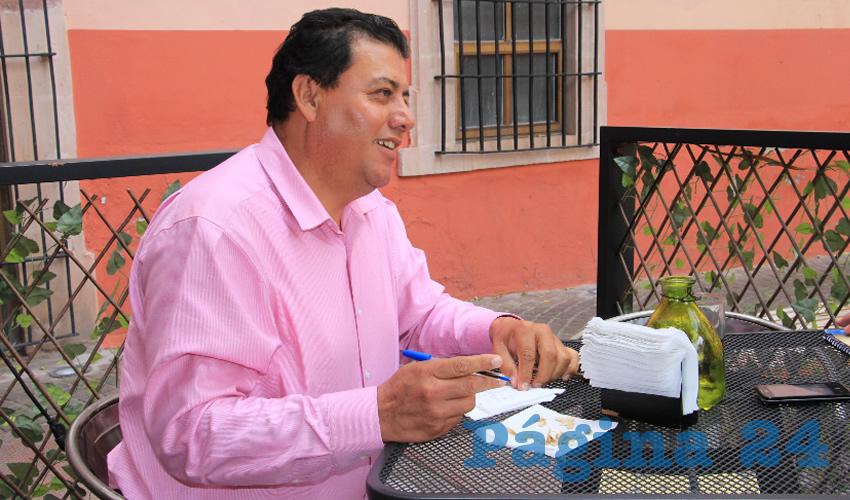 Fernando Galván Martínez, líder de frijoleros en la zona norte del estado e integrante de Movimiento Regeneración Nacional (Morena) (Foto: Archivo Página 24)