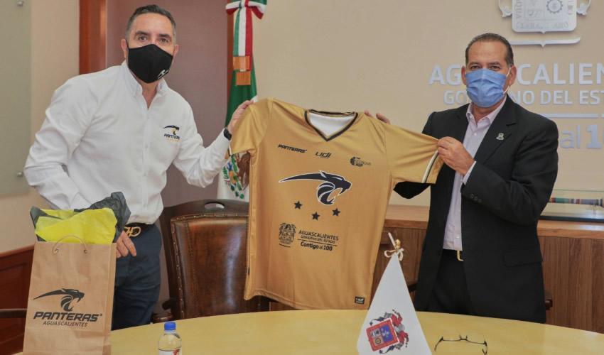 Refrenda Gobernador Martín Orozco Apoyo al  Club Panteras de Aguascalientes