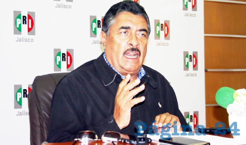 """Se ha hablado mucho de la rifa que se está realizando en una circunstancia muy especial, muy particular que vive el país. Lamentablemente es una rifa que se realiza a partir del fanatismo, la ignorancia"""", criticó el dirigente del PRI Jalisco/Foto: Francisco Tapia"""
