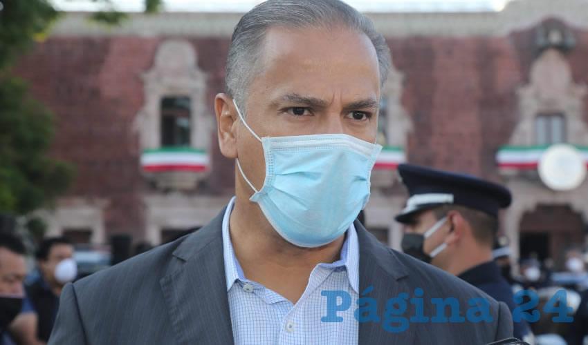 José Antonio Arámbula López, presidente municipal de Jesús María (Foto: Eddylberto Luévano Santillán)