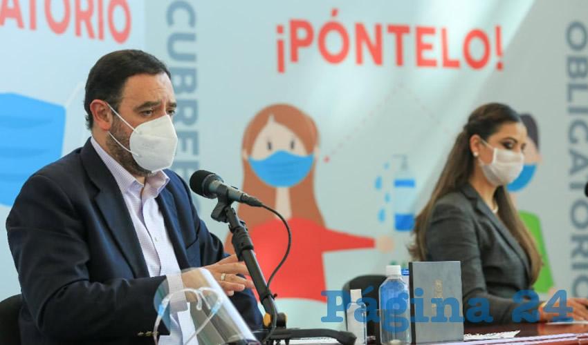 En conferencia virtual, el gobernador Alejandro Tello Cristerna informó a la ciudadanía sobre el balance semanal que realizan junto con la Secretaría de Salud de Zacatecas (SSZ) (Foto: Archivo Página 24)