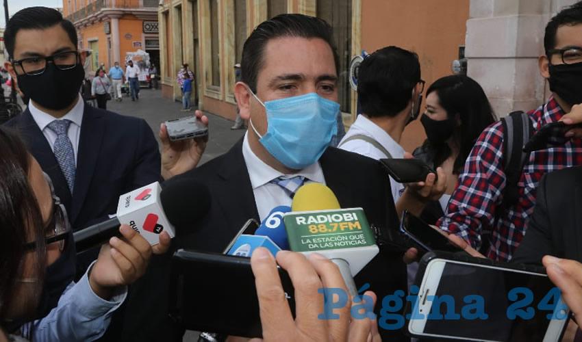 Gustavo Báez Leos, presidente estatal del PAN (Foto: Eddylberto Luévano Santillán)