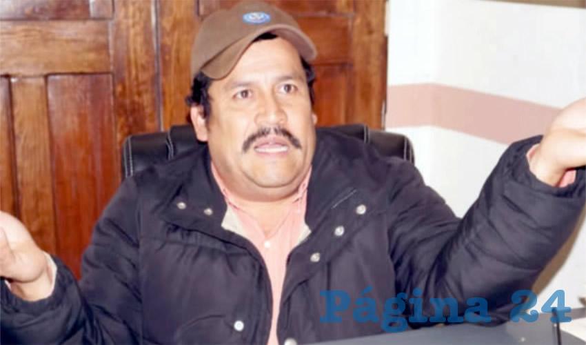 Jaime Ramos Martínez, integrante del Frente Popular de Lucha por Zacatecas (FPLZ) (Foto Archivo Página 24)
