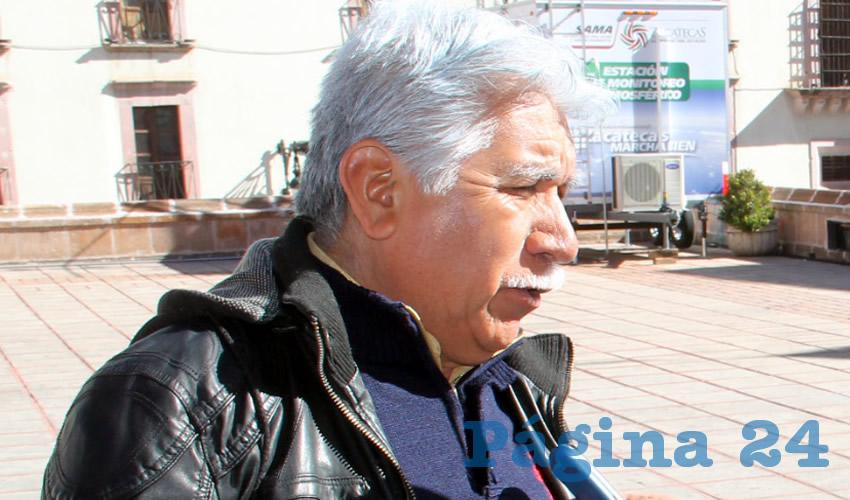 José Santos Cervantes, líder estatal del Frente Social por la Soberanía Popular (FSSP) e integrante de Movimiento de Regeneración Nacional (Morena) (Foto: Archivo Página 24 Zacatecas)
