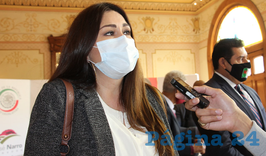 Geovanna del Carmen Bañuelos de la Torre, senadora de la República por el Partido del Trabajo (PT) (Foto: Rocío Castro)