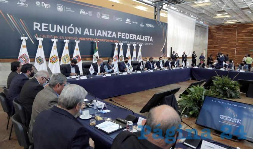 Martín Orozco Sandoval recibió a los gobernadores de la Alianza Federalista