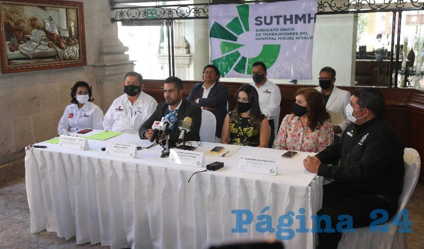 Federación Nacional de Sindicatos de Salud realizó una cumbre en Aguascalientes (Foto: Eddylberto Luévano Santillán)