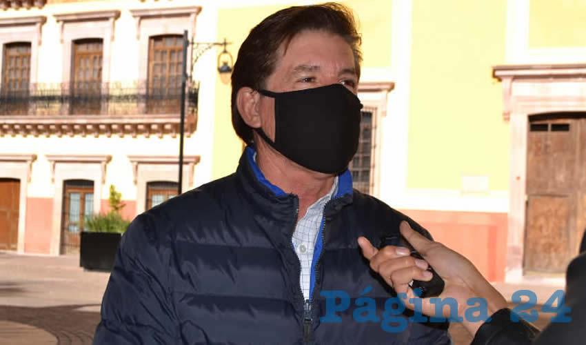 Felipe Delgado de la Torre, presidente de la Comisión de Atención a Migrantes en la LXIII Legislatura (Foto: Merari Martínez)