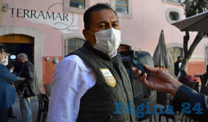 Ignacio Fraire Zúñiga, delegado local del Instituto Nacional de Migración (INM) (Foto: Merari Martínez)
