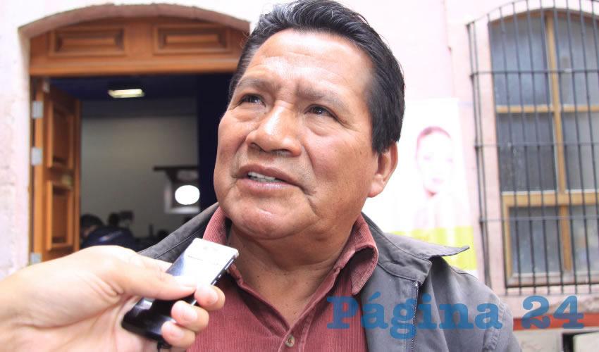 Manuel Alvarado Pérez, representante del Barzón en la entidad (Foto: Archivo Página 24)