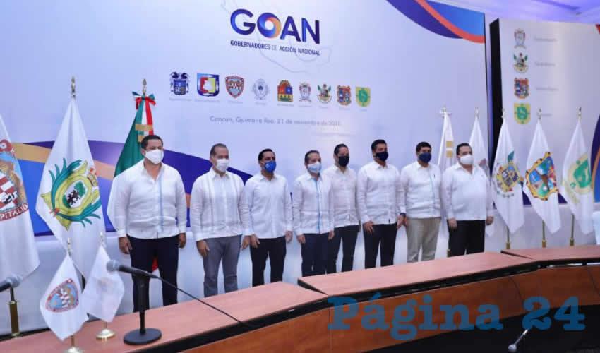 Gobernadores del Partido Acción Nacional Mantienen  Agenda de Trabajo Coordinado en Beneficio de México