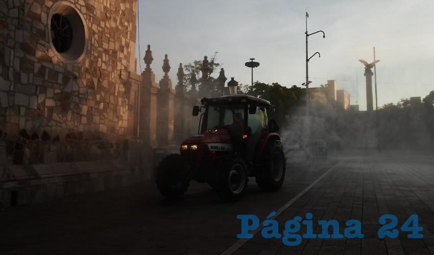 Gobierno Estatal Continúa la Sanitización de Calles, Avenidas y Espacios Públicos
