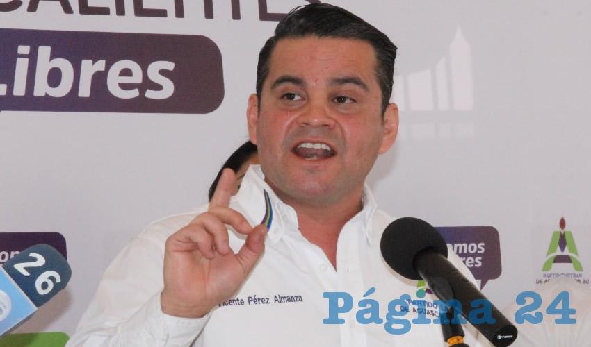 Vicente Pérez Almanza, presidente del Partido Libre de Aguascalientes (Foto: Juan Fernando Reyes Ortega)